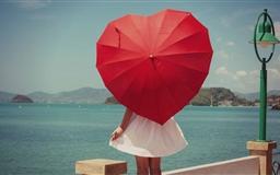Girl Umbrella Mac wallpaper