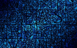 Blue Stained Glass Mac wallpaper