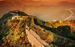 A Moody Evening At The Great Wall Mac wallpaper