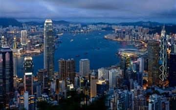 Hong Kong City View Mac wallpaper