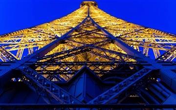 Eiffel Tower Blue And Yellow Mac wallpaper