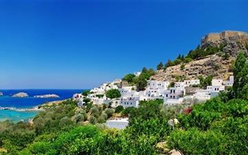 Greece Coast Mac wallpaper