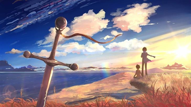 Sword Anime Scene Mac Wallpaper