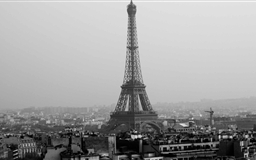 Tower Eiffel Black And White Mac wallpaper
