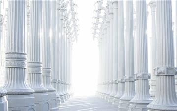 White Columns Mac wallpaper