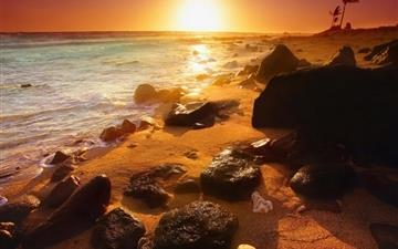 Summer beautiful sunset Mac wallpaper