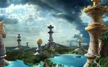 Fantasy Chess Art Mac wallpaper