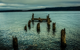 Wooden Piles Mac wallpaper