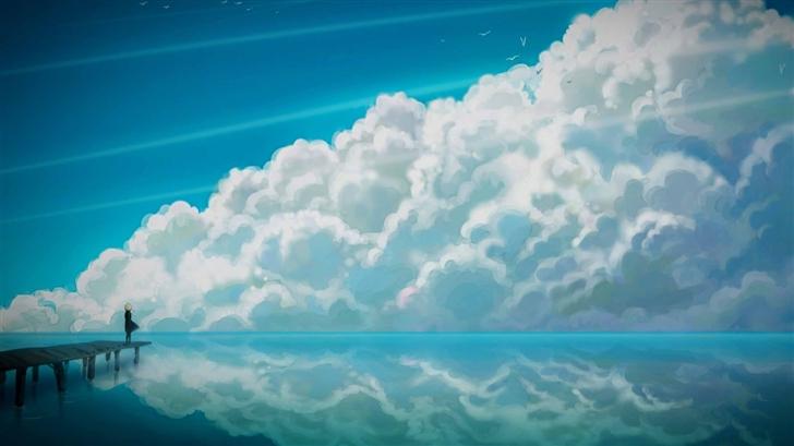 Sky Anime Mac Wallpaper