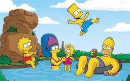 The Simpsons Summer Vacation Mac wallpaper