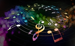 Colorful Musical Notes Mac wallpaper