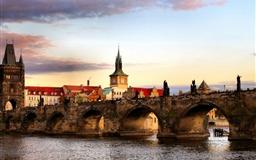 Prague Bridge Landscape