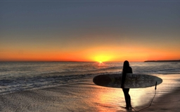 Surfin The Sunset San Clemente
