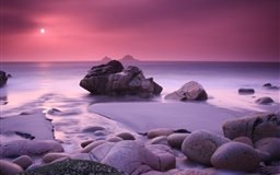 Pink Haze and Stones Mac wallpaper