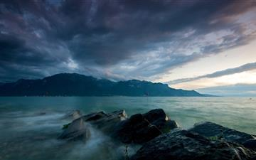 Lake At Dusk Mac wallpaper