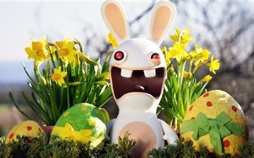 Funny Easter Buny Mac wallpaper