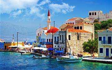 Beautiful Greece Corner Mac wallpaper