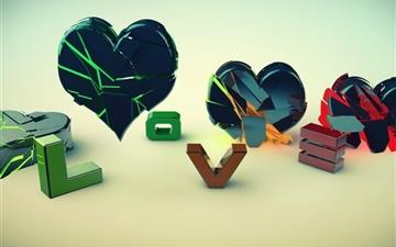 Love And Heart Mac wallpaper