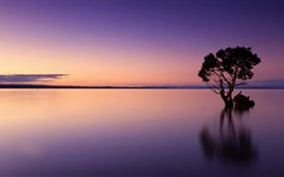 Calm Ocean Dusk Mac wallpaper