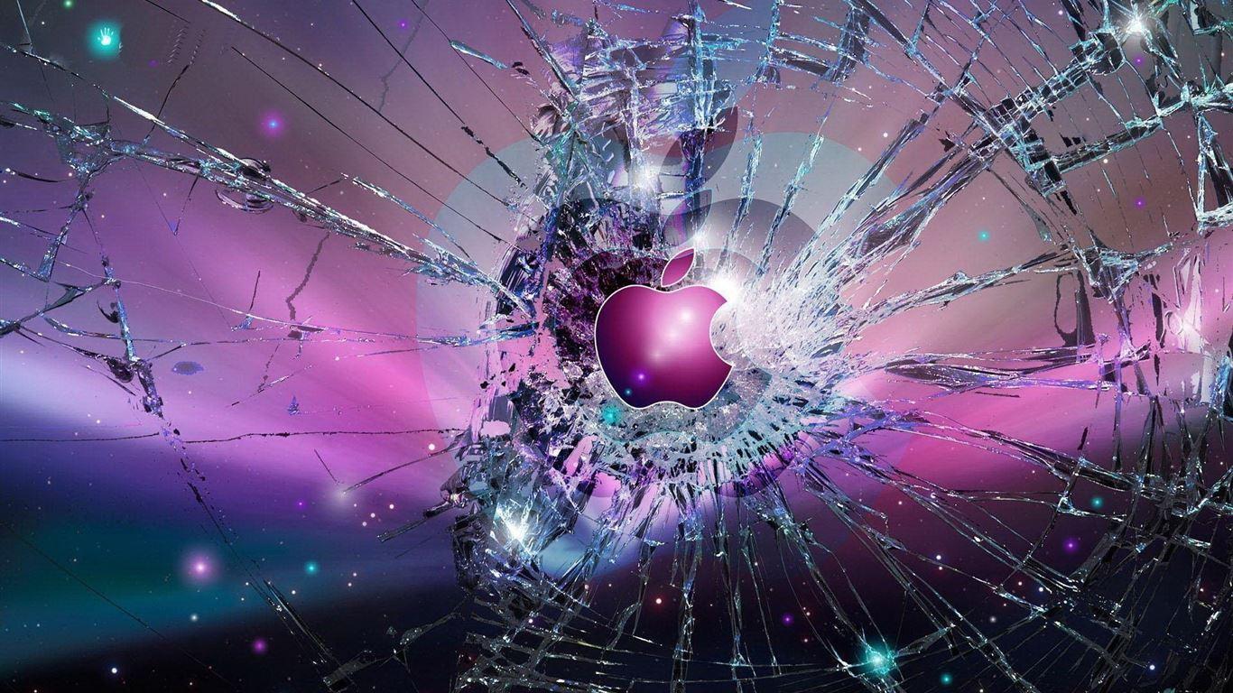 Apple Logo Broken Glass Mac Wallpaper Download