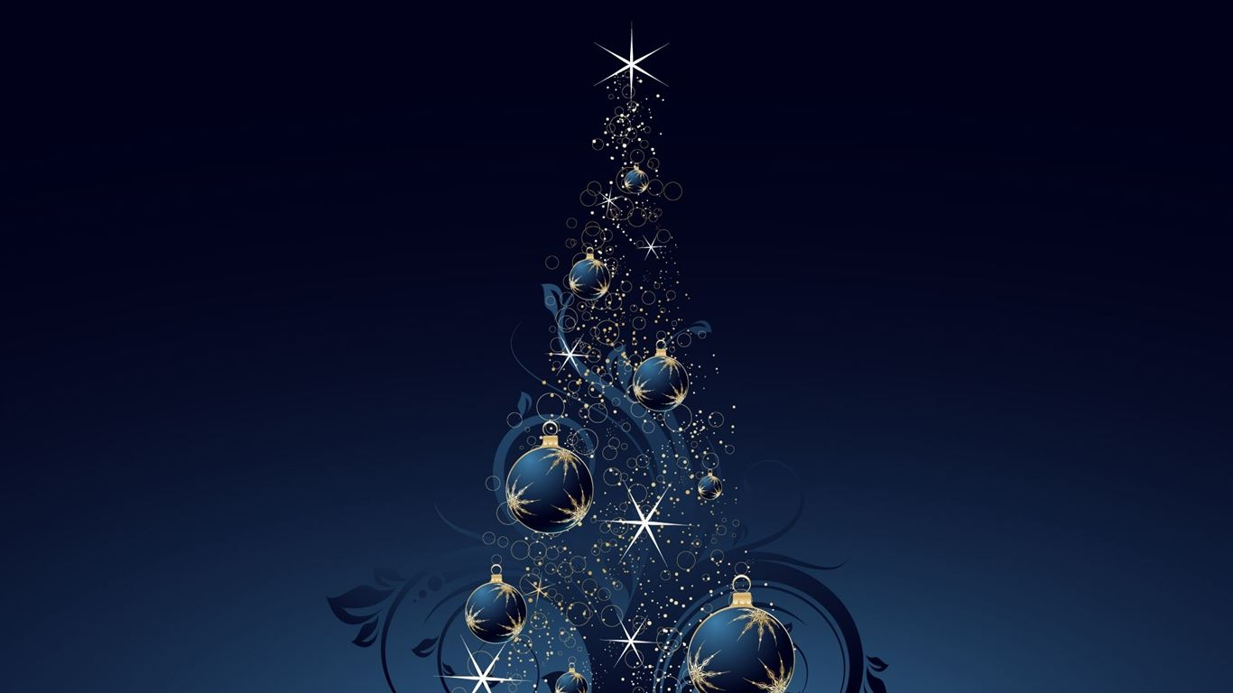 blu christmas tree wallpaper backgrounds - photo #11