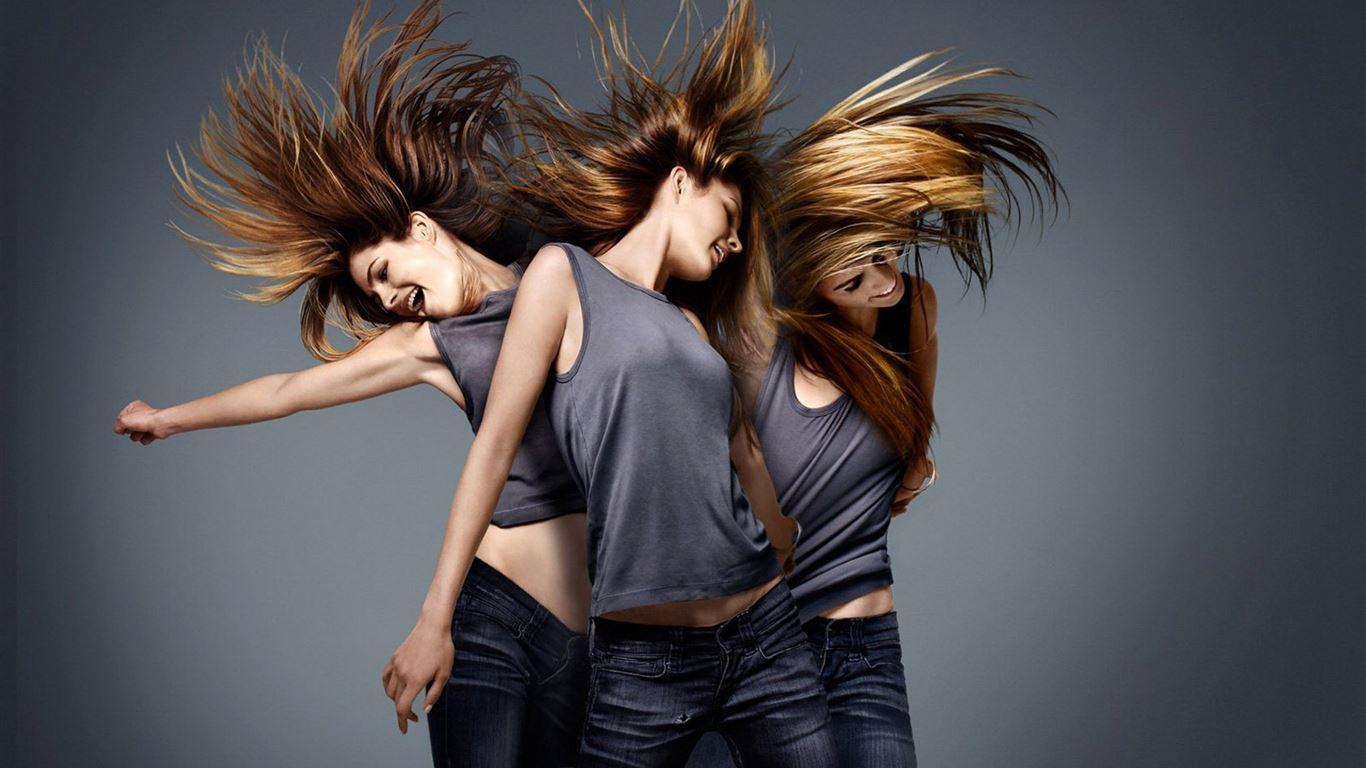 Sexy Girl Dancing On Image Photo