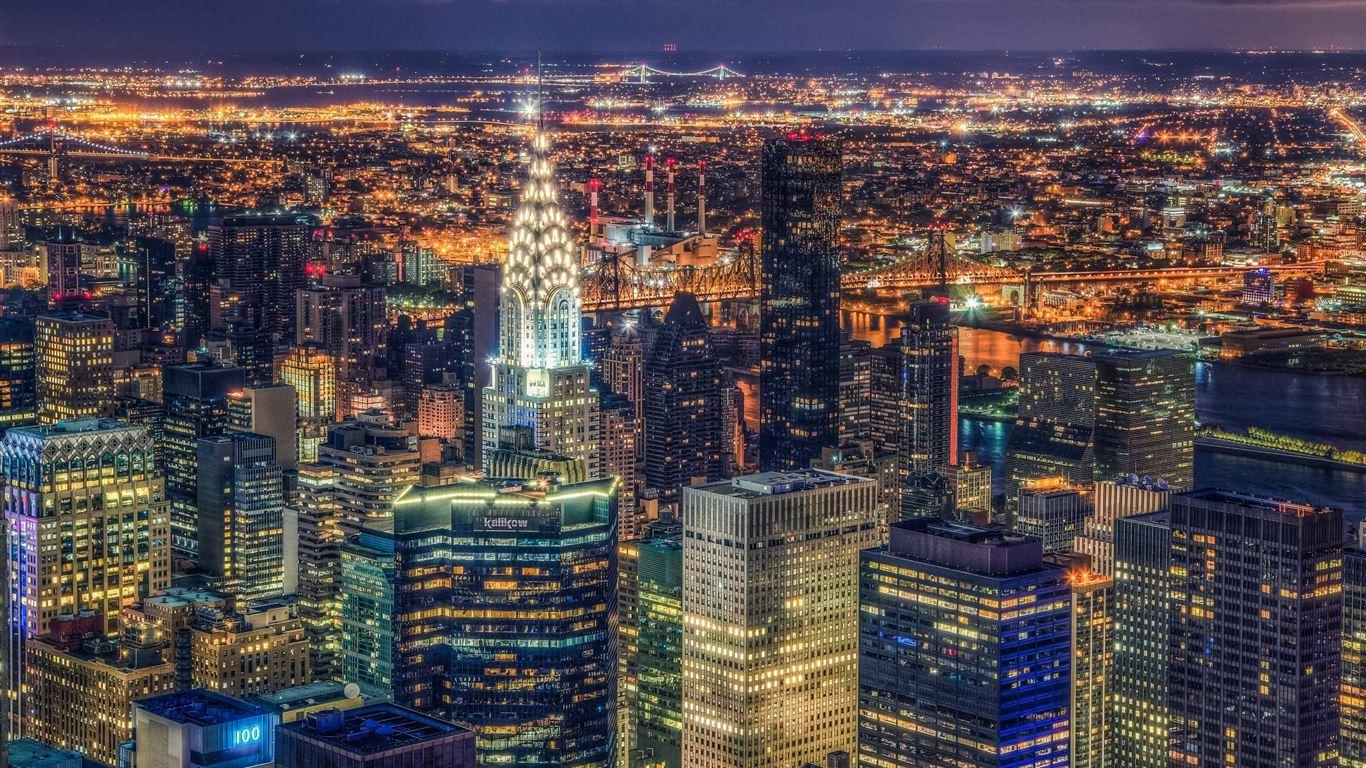 Manhattan Panorama Macbook Air Wallpaper Download Allmacwallpaper