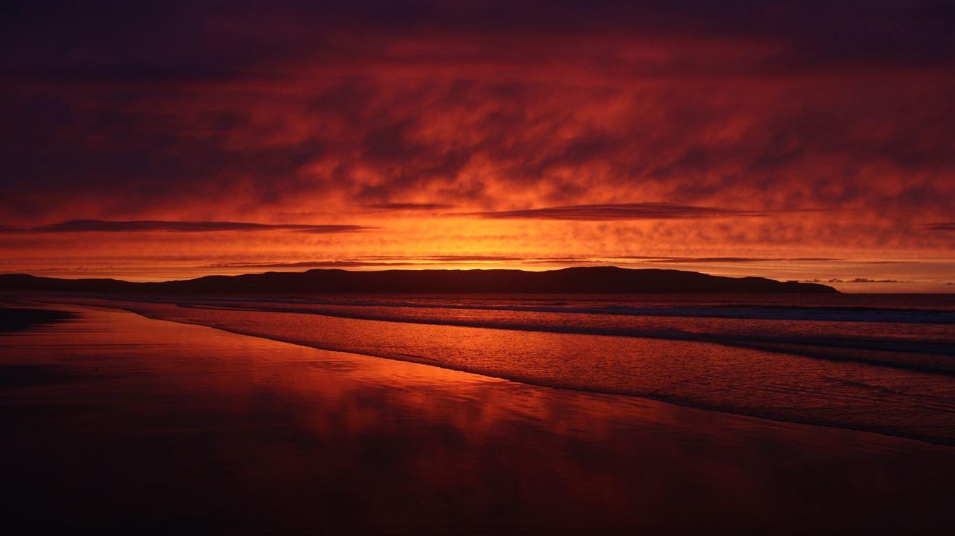 red sunset beach mac wallpaper download free mac