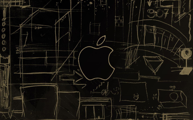 Apple Logo Sketch Mac Wallpaper Download Free Mac Wallpapers Download