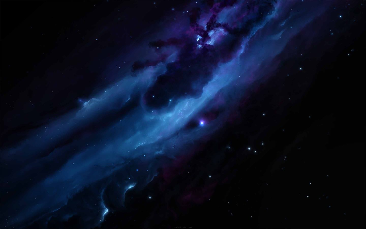 blue nebula mac wallpaper download free mac wallpapers