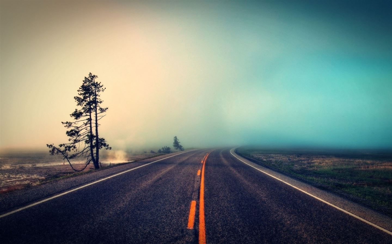Foggy Road Mac Wallpaper Download Allmacwallpaper