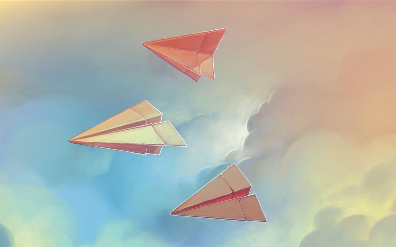 Three paper airplane Mac Wallpaper Download | Free Mac ...