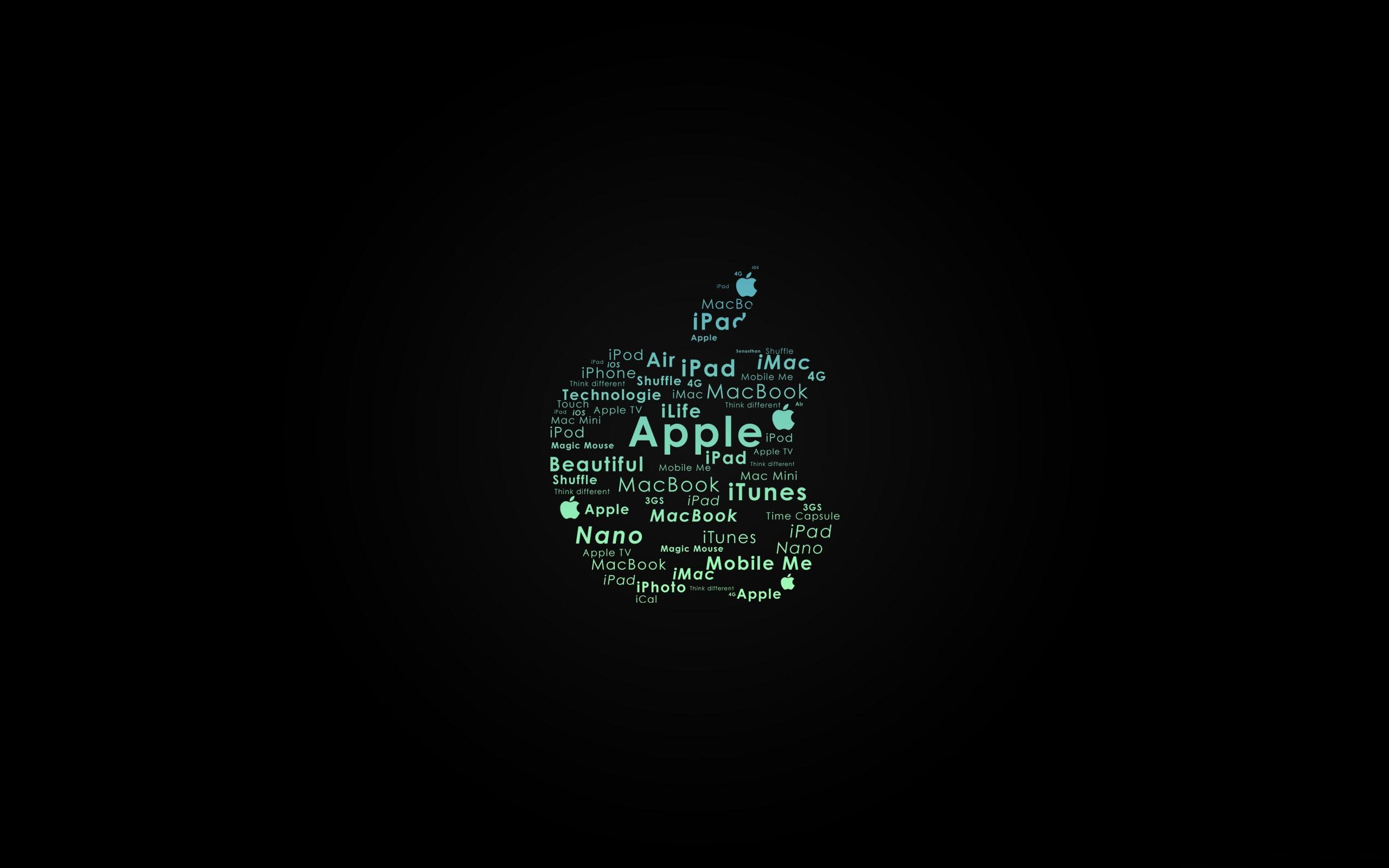 Apple Logo Typography Macbook Air Wallpaper Download Allmacwallpaper