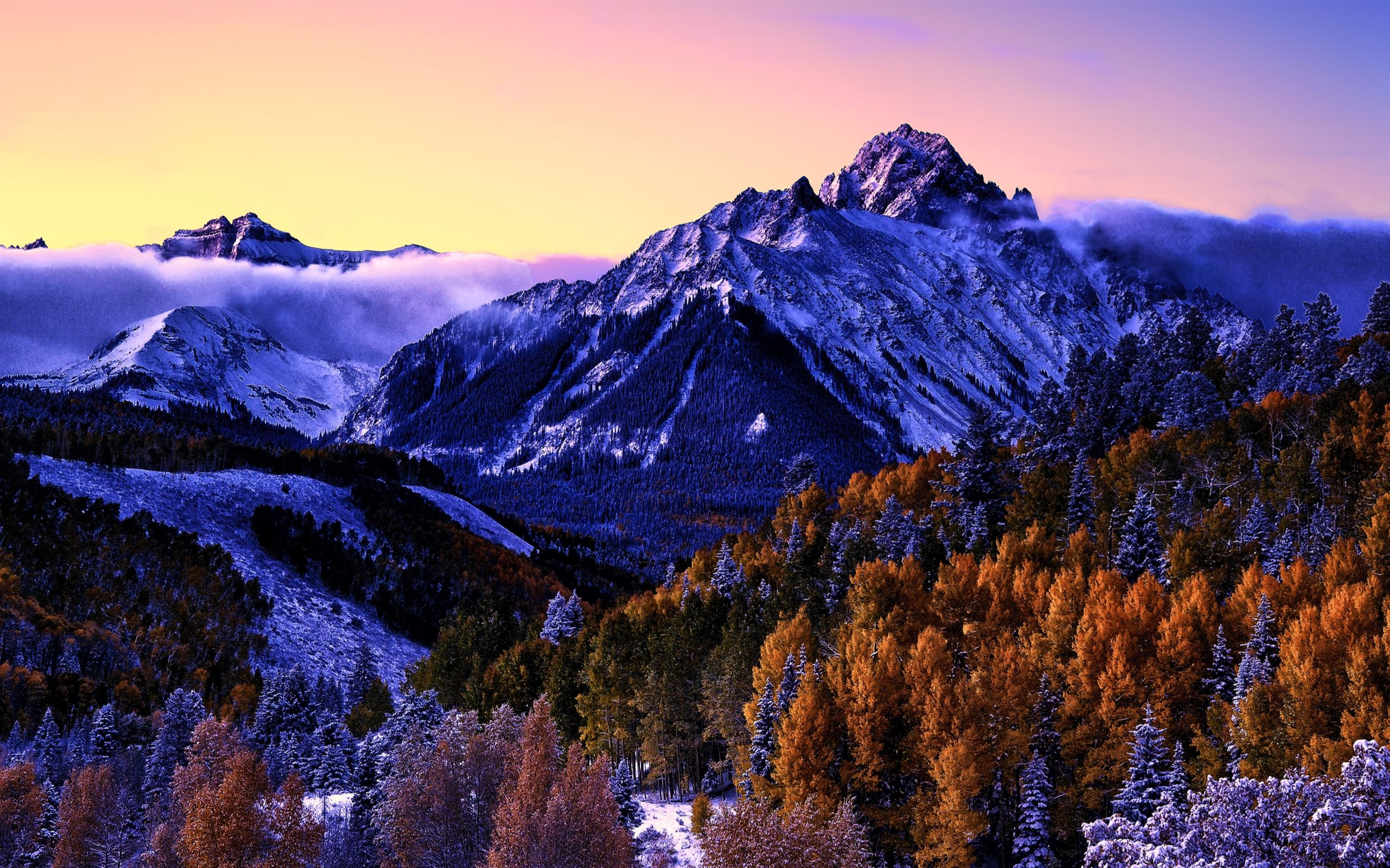 Beautiful Snow Mountain Macbook Air Wallpaper Download