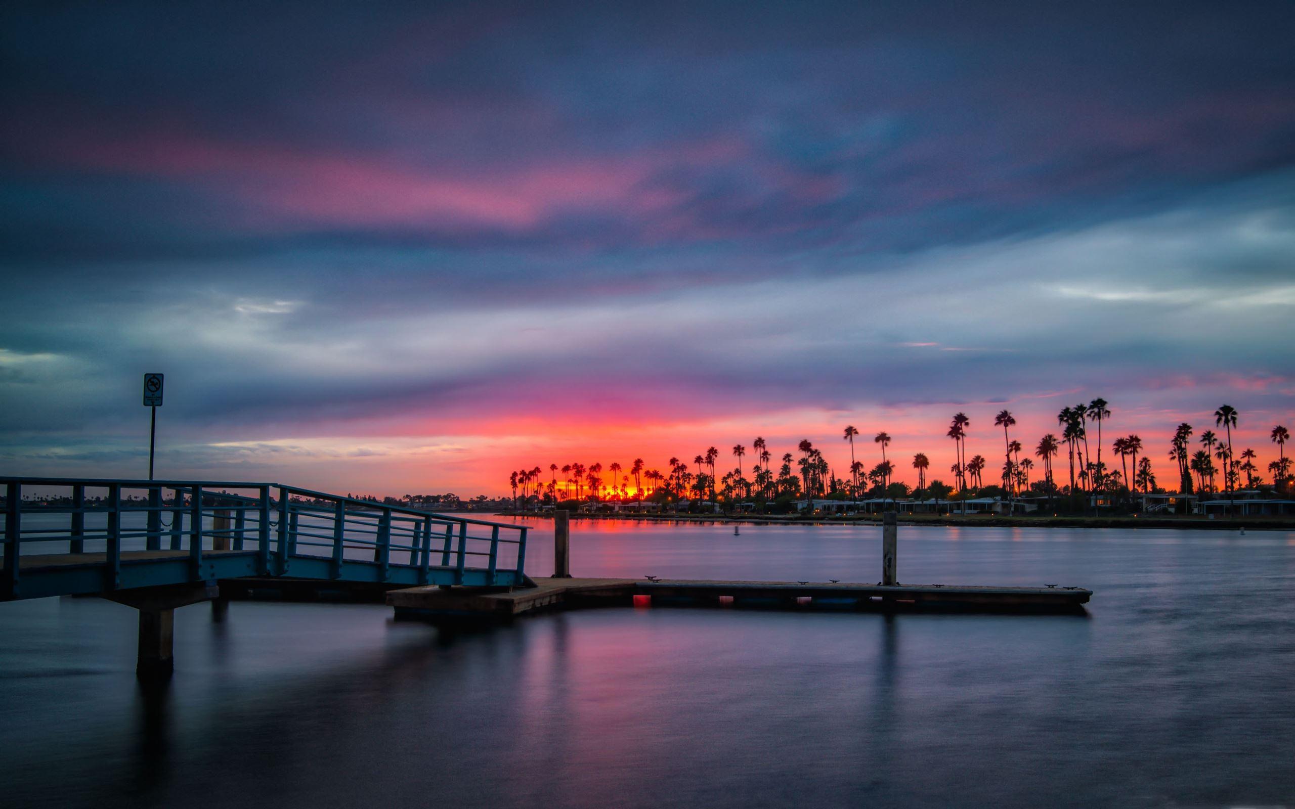 California Sunset Macbook Air Wallpaper Download Allmacwallpaper