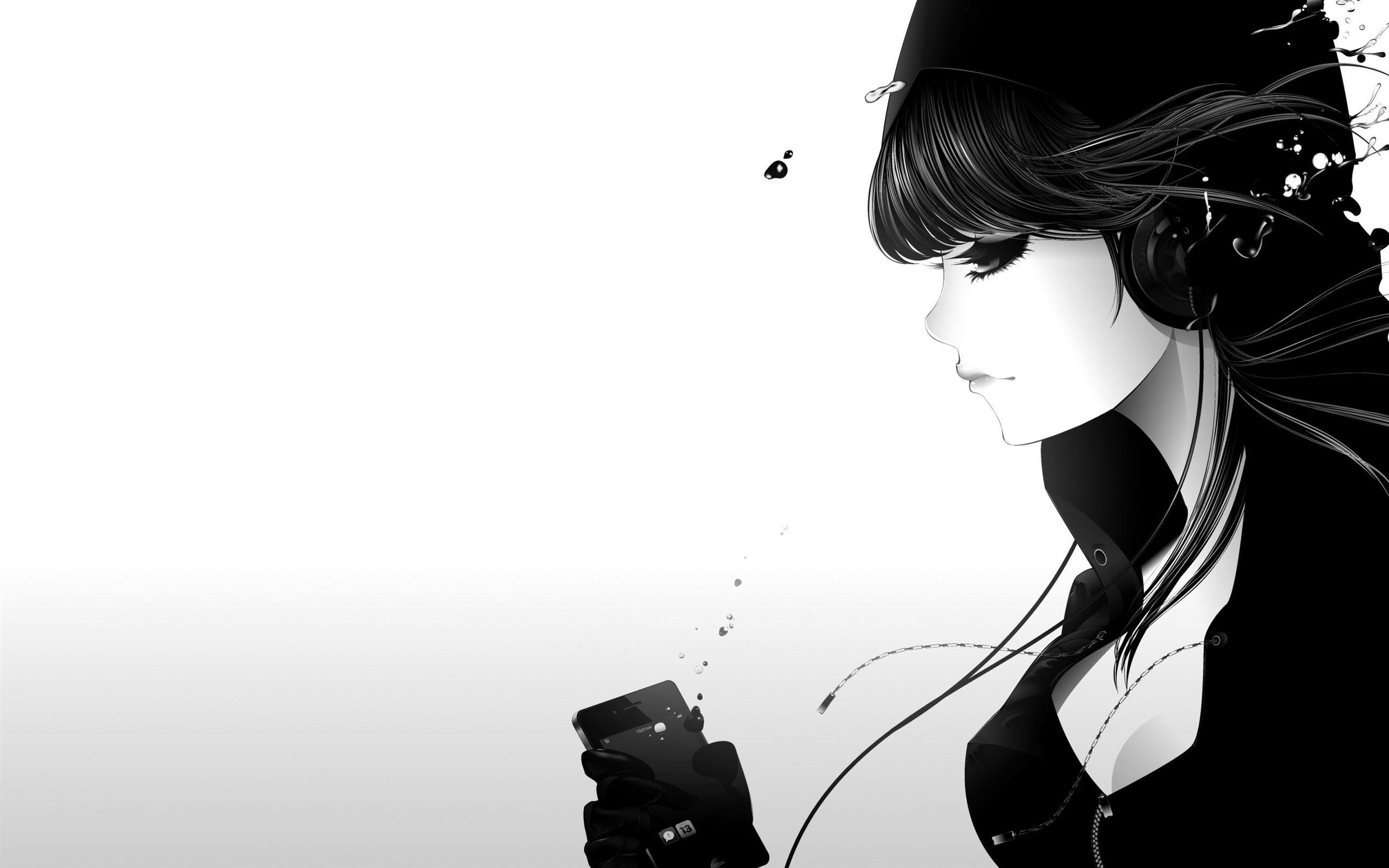 Girl Listening To Music Mac Wallpaper Download Allmacwallpaper