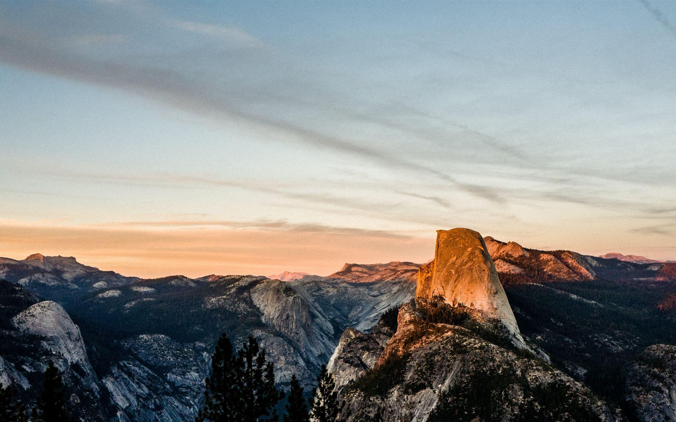 Half Dome At Sunset Imac Wallpaper Download Allmacwallpaper