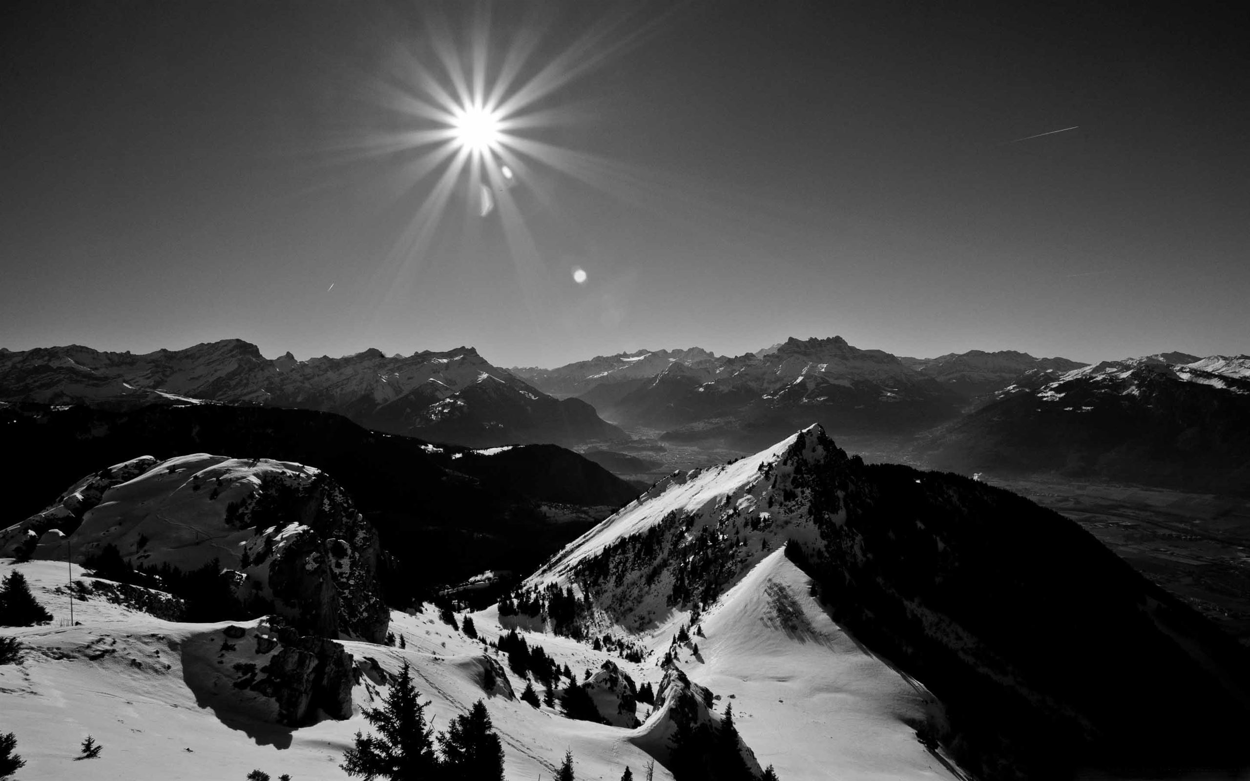 Landscape In Black And White Mac Wallpaper Download Allmacwallpaper