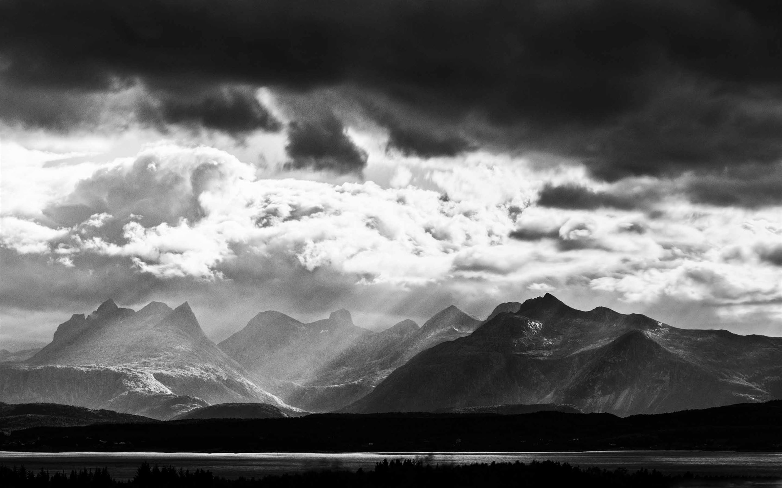 Mountain Black And White Mac Wallpaper Download Allmacwallpaper