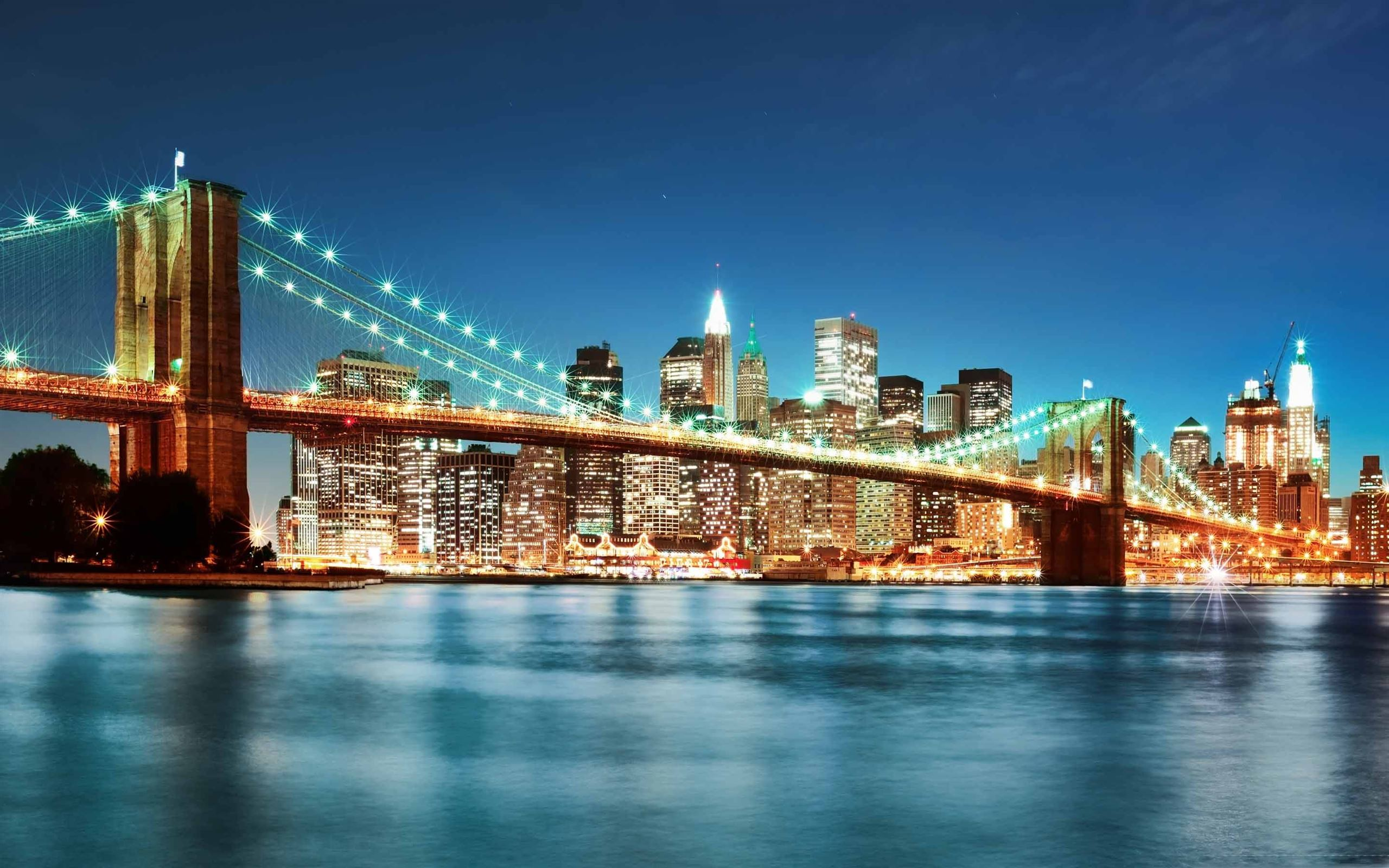 New York City Night Macbook Air Wallpaper Download Allmacwallpaper