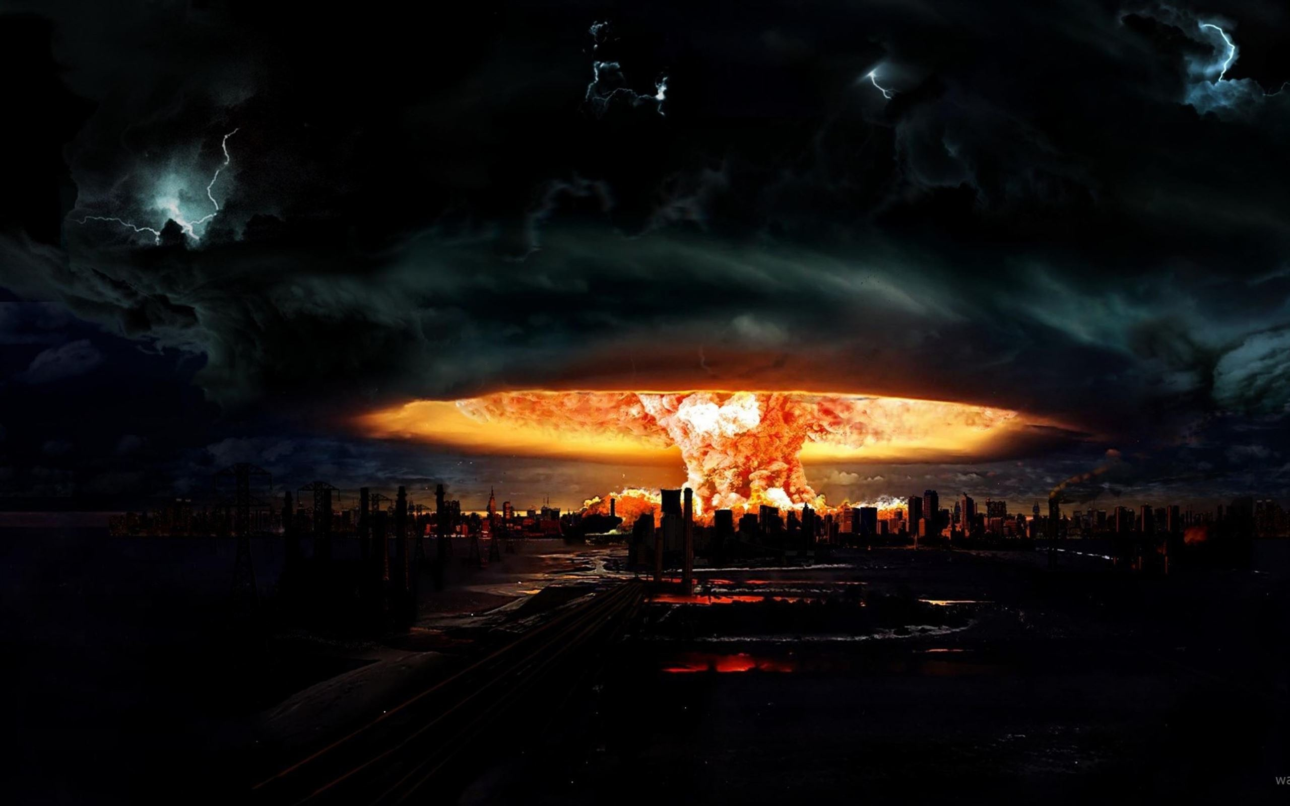 Nuclear Explosion Of Darkness Macbook Air Wallpaper Download Allmacwallpaper
