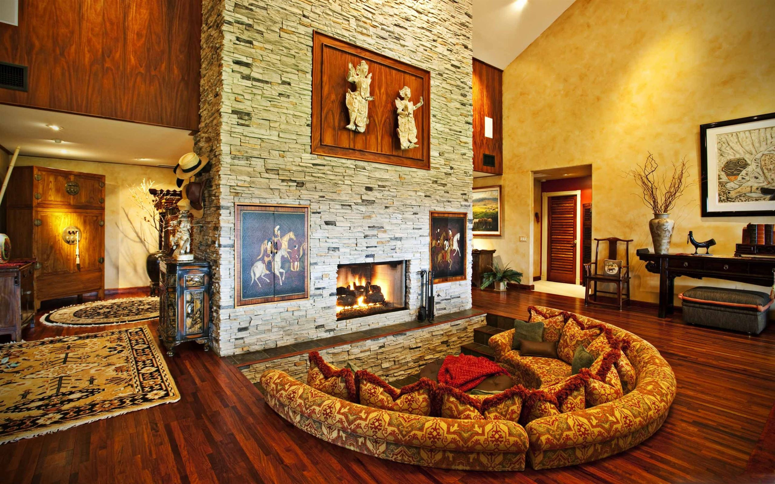 Room With Fireplace Mac Wallpaper Download Allmacwallpaper