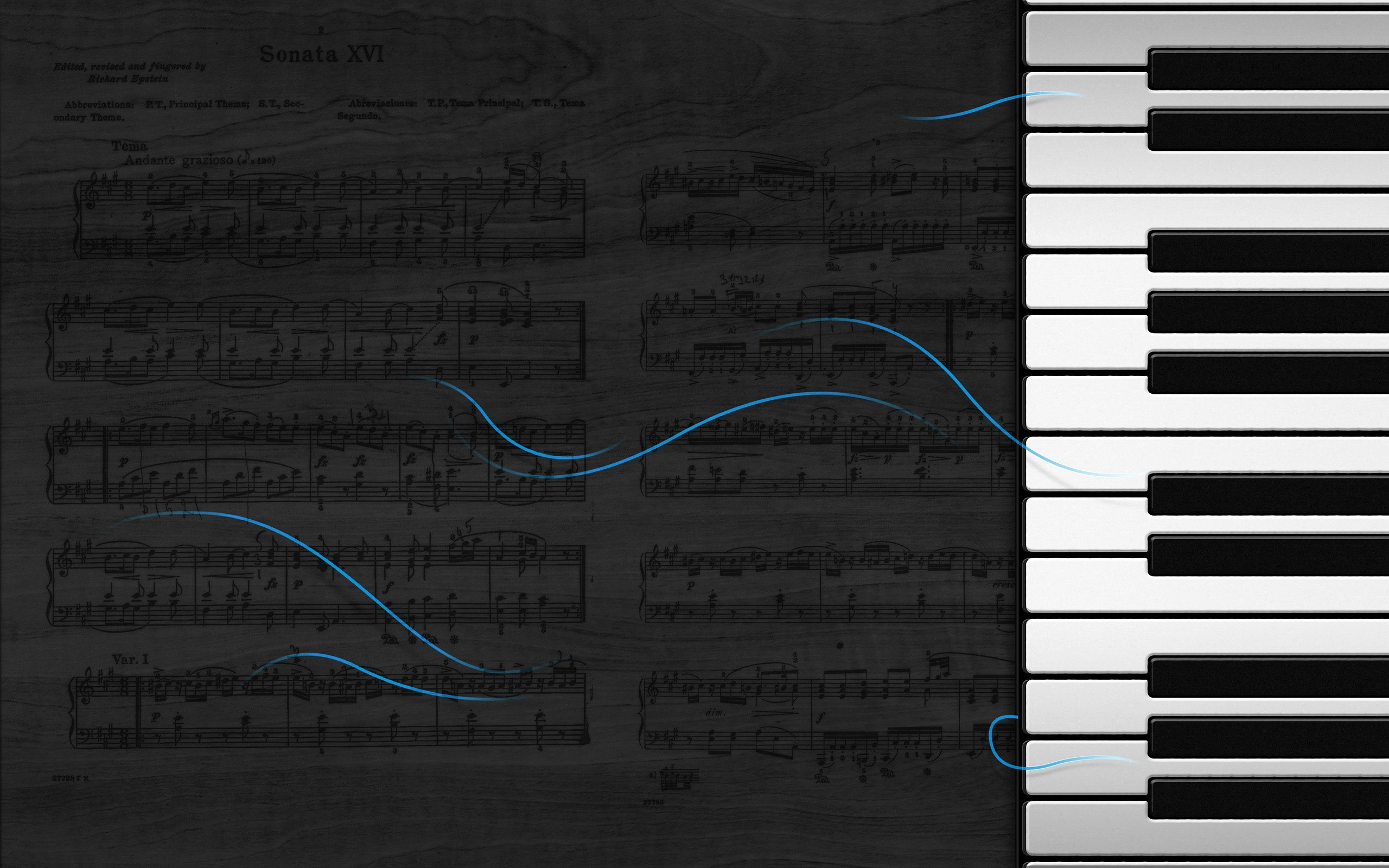 The Piano And Music Score Macbook Air Wallpaper Download Allmacwallpaper