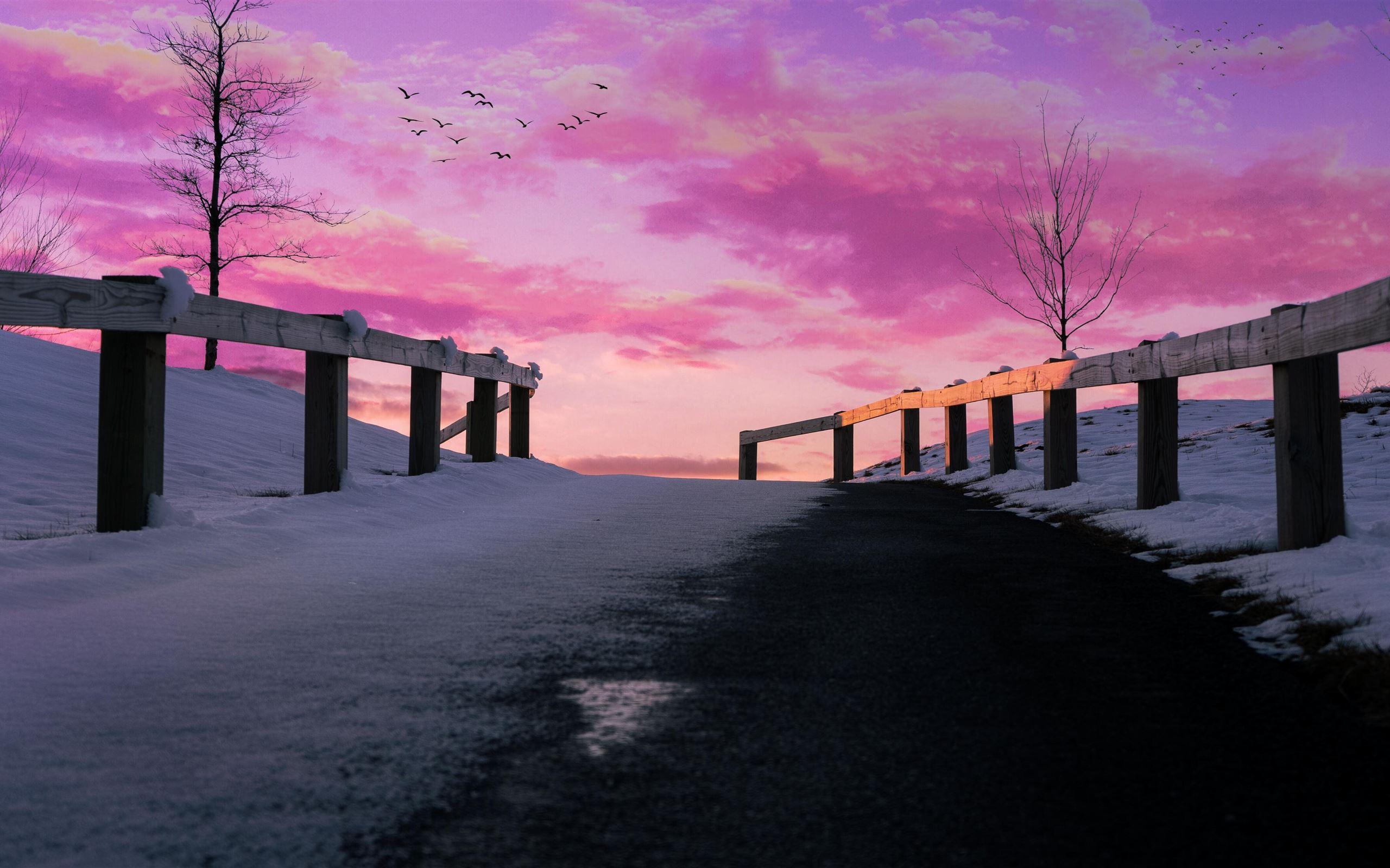 Aesthetics Pink Pink Sky 5k Imac Wallpaper Download Allmacwallpaper