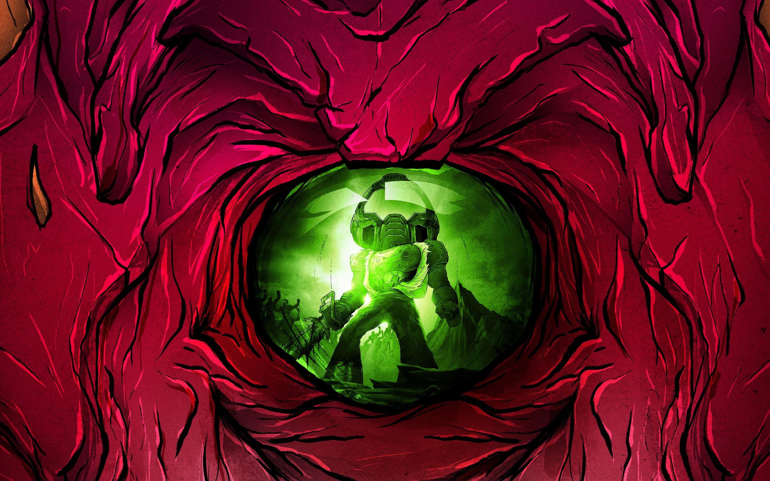 Doom Eternal Slayerclub Starship Doomers 5k Macbook Air Wallpaper