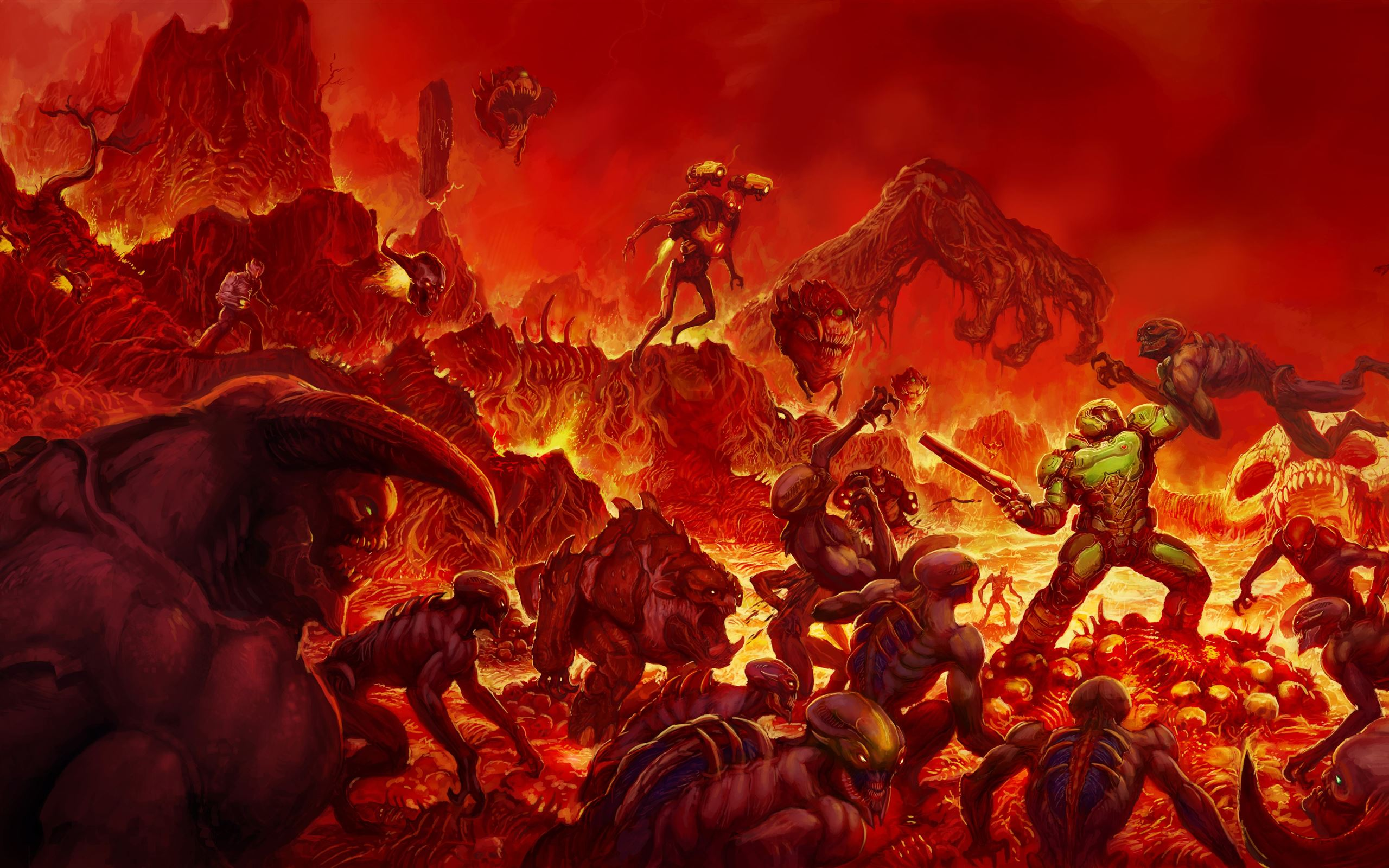 Doom Reverse Mac Wallpaper Download Allmacwallpaper