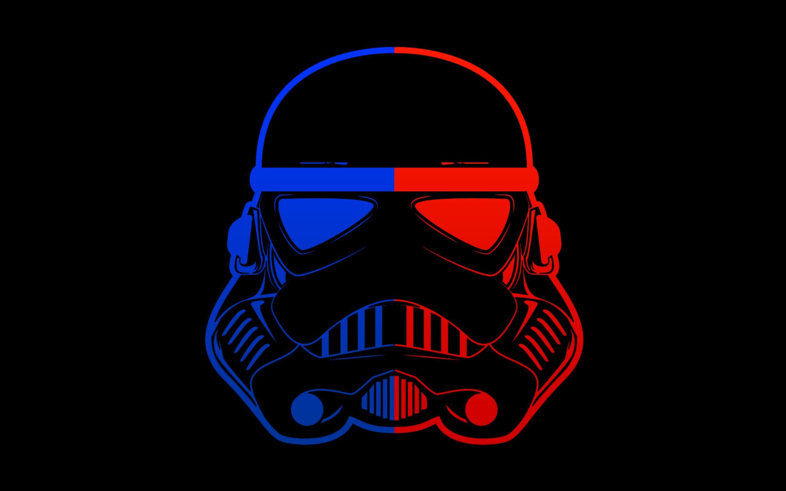 Stormtrooper Blue Red Mask Minimal 8k Macbook Air Wallpaper Download Allmacwallpaper