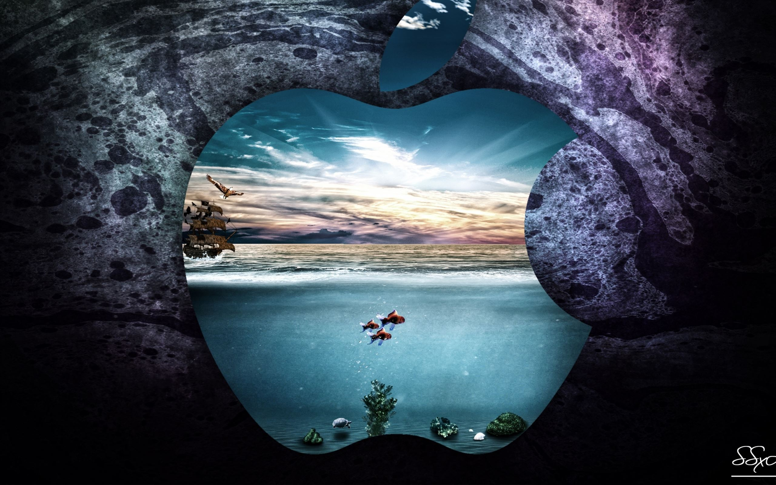 apple underwater mac wallpaper download free mac