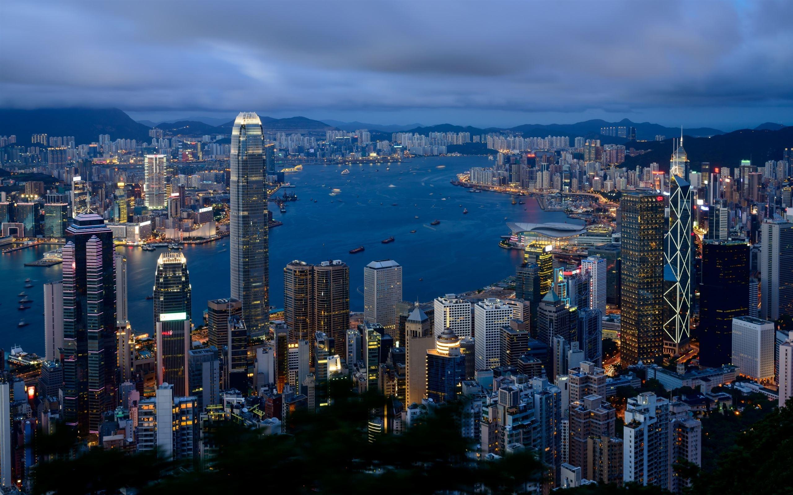 Hong Kong City View Mac Wallpaper Download