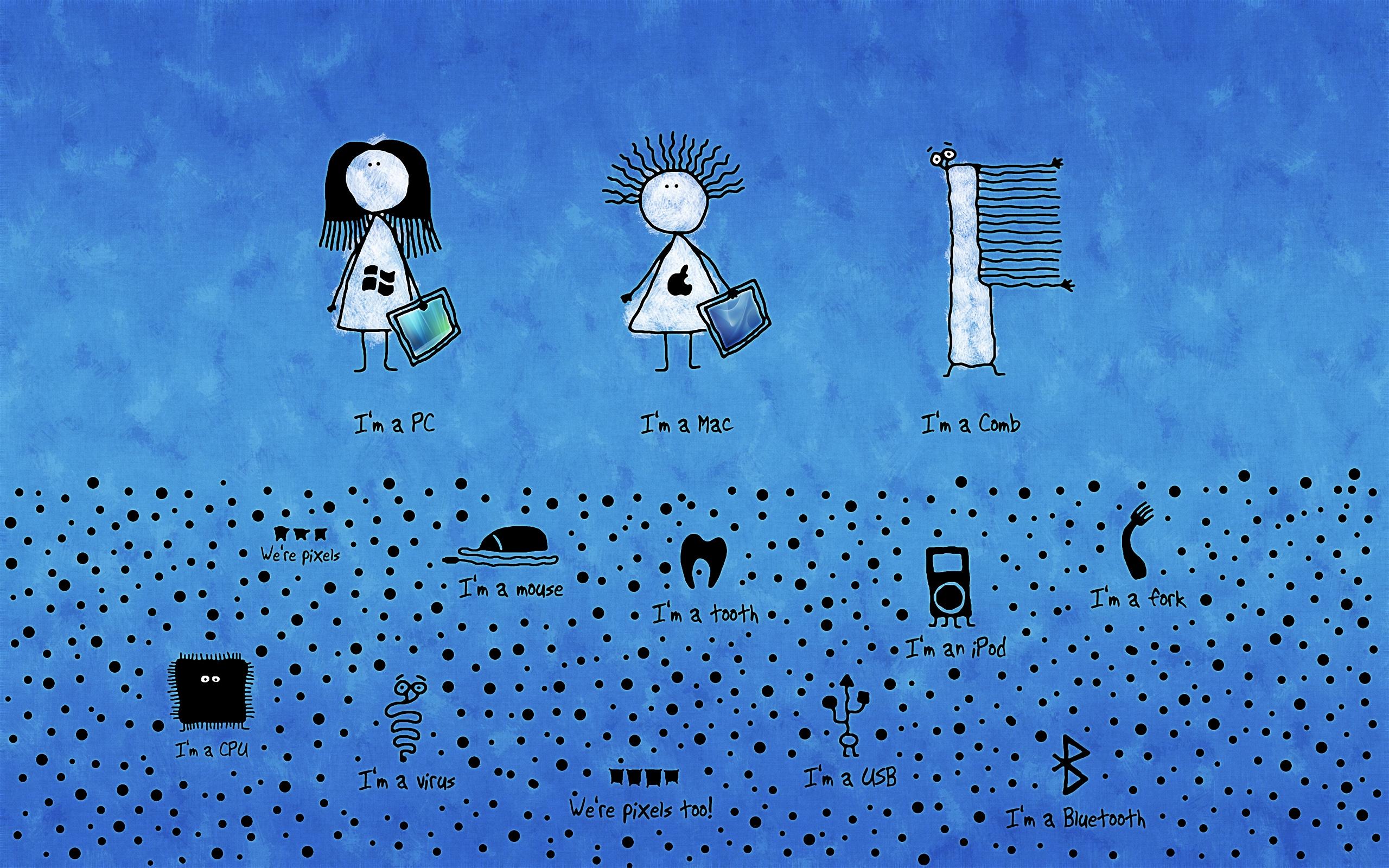 Funny MAC Cartoon Wallpaper by xCactusxQC on DeviantArt
